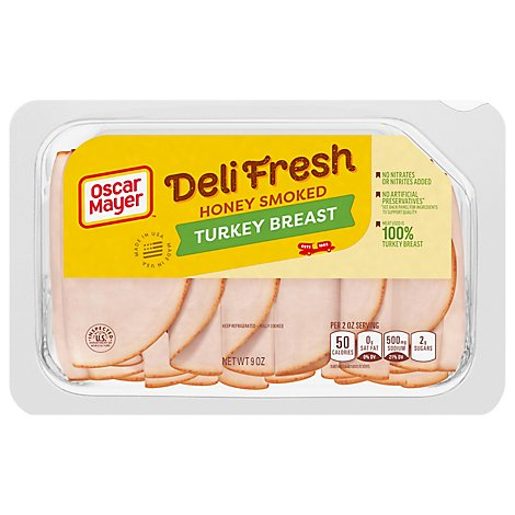 Oscar Mayer Deli Fresh Turkey Breast Honey Smoked - 9 Oz