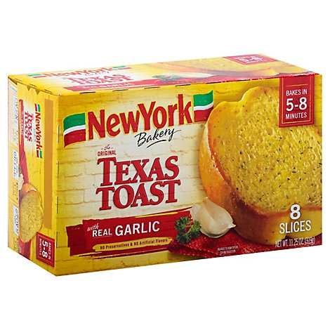 New York Bakery Texas Toast Real Garlic 8 Count - 11.25 Oz
