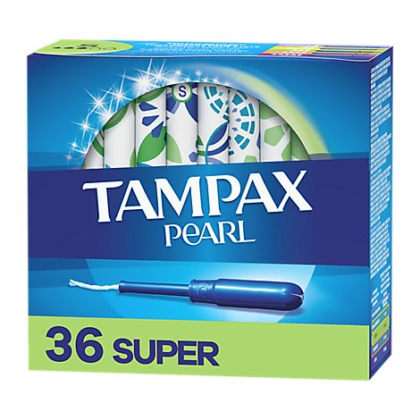 Tampax Pearl Tampons Super Absorbency Unscented - 36 Count