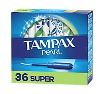 Tampax Pearl Tampons Plastic Super Absorbency Unscented - 36 Count