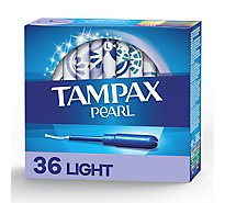 Tampax Pearl Tampons Light Absorbency Unscented - 36 Count