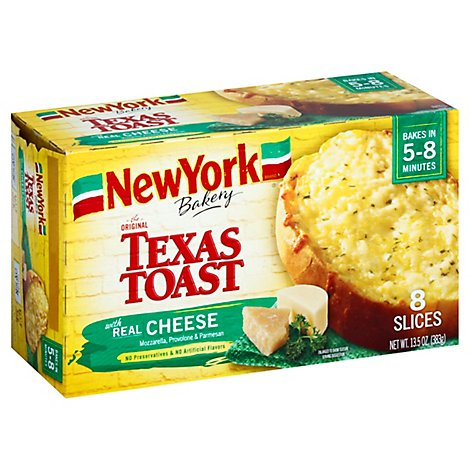 New York Bakery Texas Toast Real Cheese 8 Count - 13.5 Oz