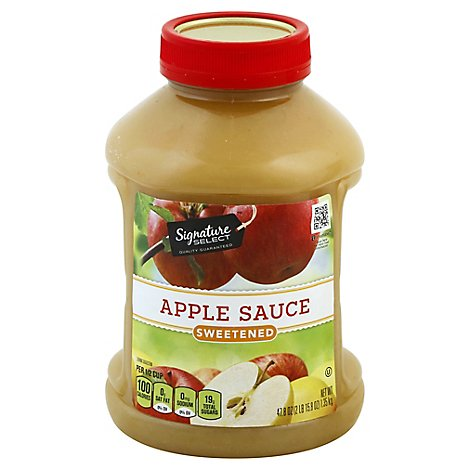 Signature SELECT Apple Sauce Sweetened - 47.8 Oz