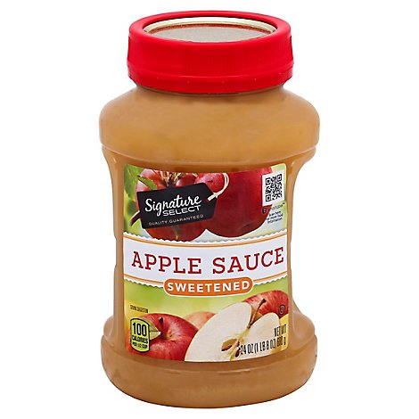 Signature SELECT Apple Sauce Sweetened - 24 Oz