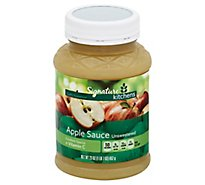 Signature SELECT Apple Sauce Unsweetened Bottle - 23.5 Oz