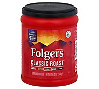Folgers Coffee Ground Medium Roast Classic Roast - 11.30 Oz