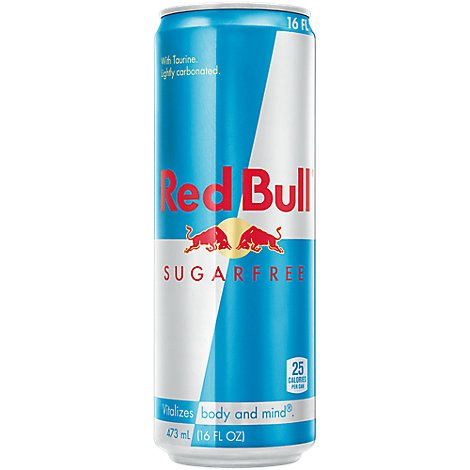 Red Bull Energy Drink Sugar Free - 16 Fl. Oz.