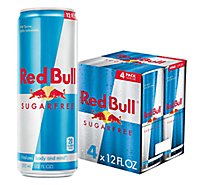 Red Bull Energy Drink Sugar Free - 4-12 Fl. Oz.