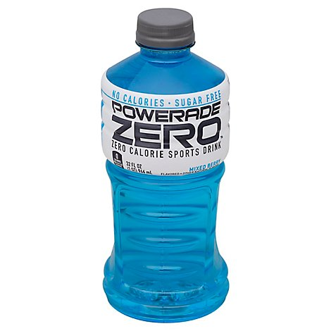 POWERADE Sports Drink Electrolyte Enhanced Zero Sugar Mixed Berry - 32 Fl. Oz.