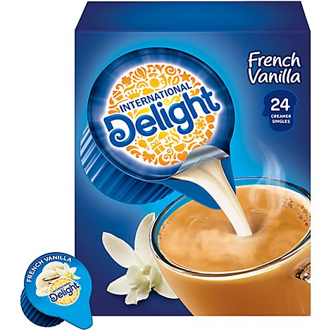 INTERNATIONAL Delight Coffee Creamer Singles Mini I.D.s French Vanilla - 24 Count