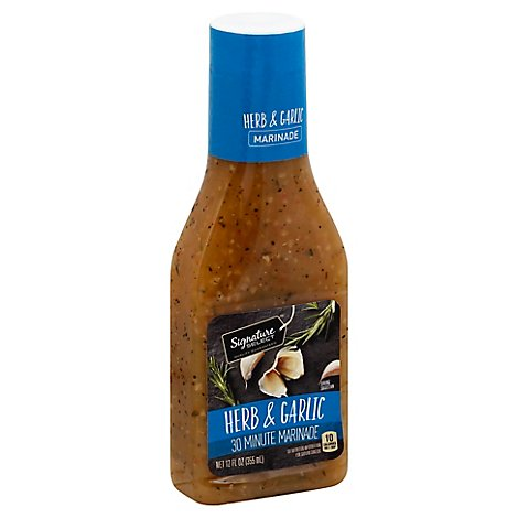 Signature SELECT Marinade Herb & Garlic - 12 Fl. Oz.