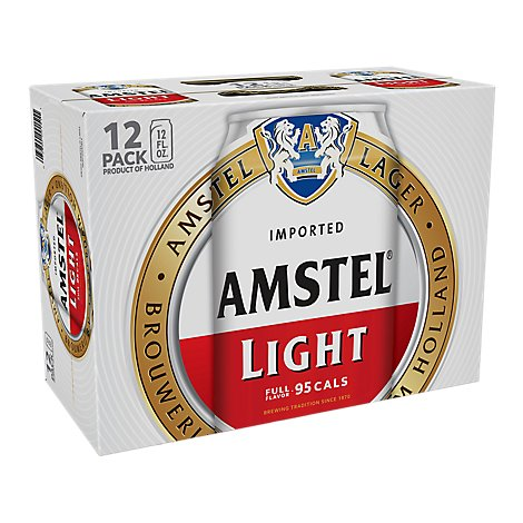Amstel Light Canned Beer Fridge Pack - 12-12 Fl. Oz.