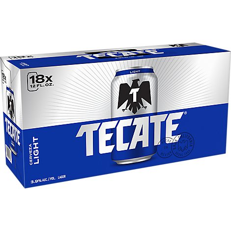 Tecate Light Beer In Cans - 18-12 Fl. Oz.