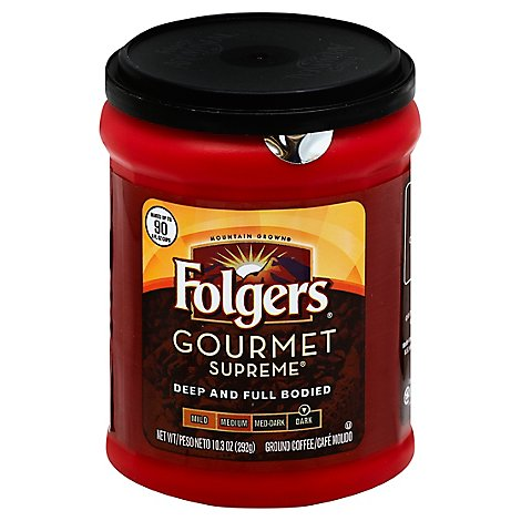 Folgers Coffee Ground Dark Roast Gourmet Supreme - 10.3 Oz