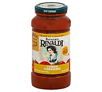 Francesco Rinaldi Pasta Sauce Chunky Three Cheese Jar - 24 Oz