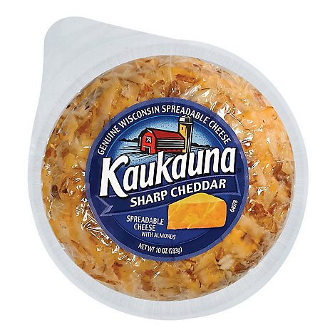 Kaukauna Sharp Cheddar Spreadable Cheese Ball - 10 Oz.