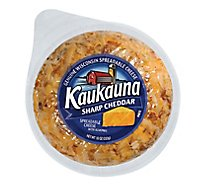 Kaukauna Sharp Cheddar Spreadable Cheese Ball 10 oz