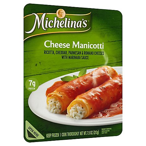 Michelinas Frozen Meal Manicotti Cheese - 7.5 Oz
