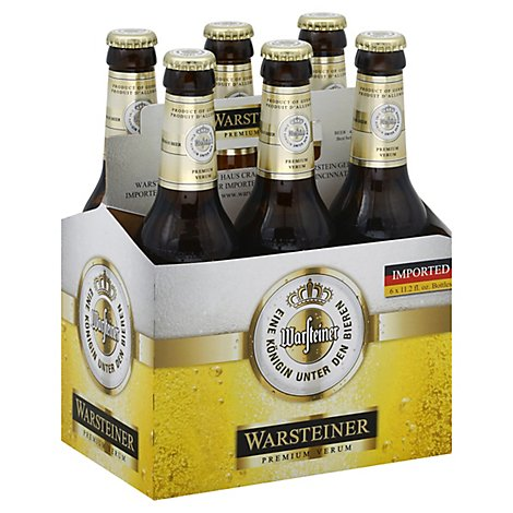 Warsteiner Premium Verum Beer Bottles - 6-11.2 Fl. Oz.