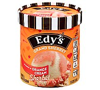 Dreyers Edys Sherbet Grand Orange Cream - 1.5 Quart