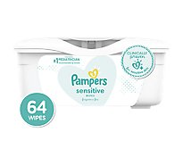 Pampers Baby Wipes Sensitive Perfume Free Tub - 64 Count
