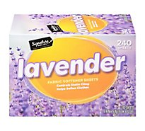 Signature SELECT Fabric Softener Sheets Lavender Box - 240 Count