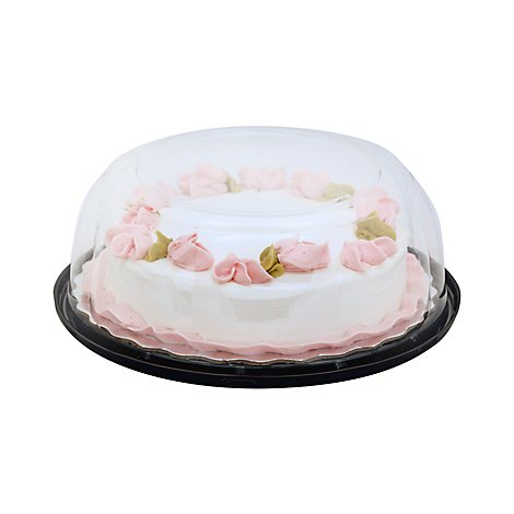 Bakery Cake White Decorated 8 Inch 1 Layer Seasonal - Each