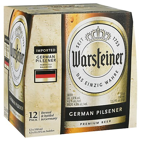 Warsteiner Premium Verum Beer Bottles - 12-11.2 Fl. Oz.