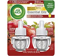 Air Wick Scented Oil Refill Apple Cinnamon Hidden Pleasures - 2-0.71 Fl. Oz.