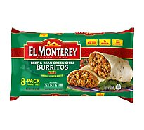 El Monterey Burritos Beef & Bean Chili Green 8 Count - 32 Oz