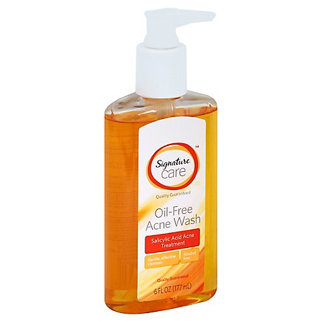 Signature Care Acne Wash Oil Free Salicylic Acid Acne Treatment - 6 Fl. Oz.