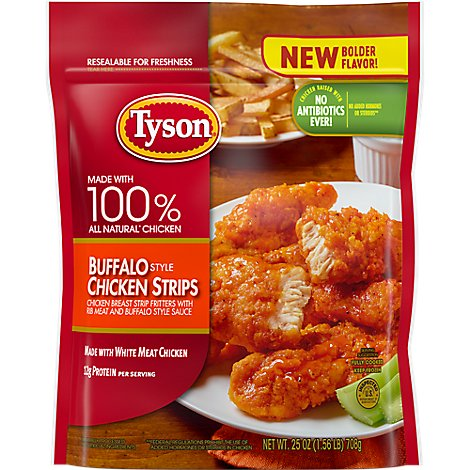 Tyson Fully Cooked Buffalo Style Chicken Strips - 25 Oz