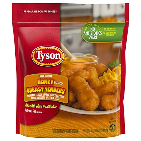 Tyson Fully Cooked Honey Battered Breast Tenders - 25.5 Oz