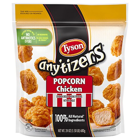 Tyson Anytizers Popcorn Chicken 24 Oz Frozen
