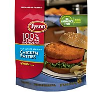 Tyson Fully Cooked Chicken Patties 26 Oz Frozen