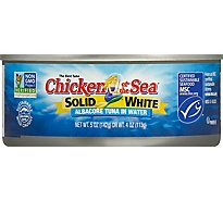 Chicken of the Sea Solid White Tuna in Water Chunk Style - 5 Oz
