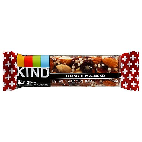 KIND Bar Plus Cranberry Almond + Antioxidants With Macadamia Nuts - 1.4 Oz