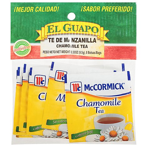 El Guapo Chamomile Tea Bag Prepacked - 8 Count