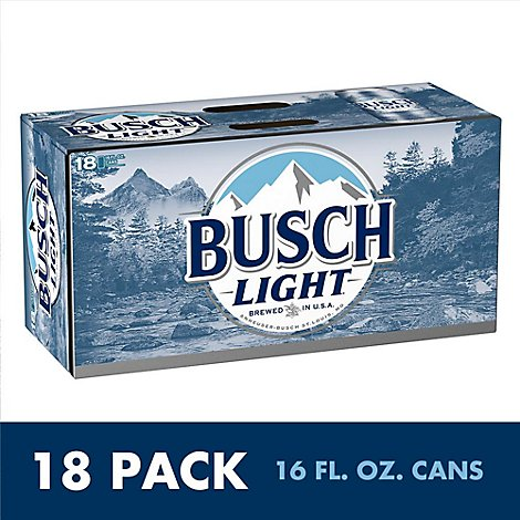 Busch Light Beer Cans - 18-16 Fl. Oz.