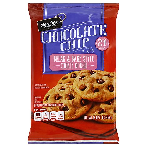 Signature SELECT Cookie Dough Break & Bake Style Chocolate Chip - 16 Oz