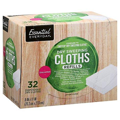 Signature SELECT Dust Ease Refills Cloth - 32 Count