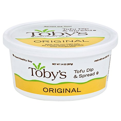 Tobys Original Plant Based Pate Dip & Spread - 14 Oz.
