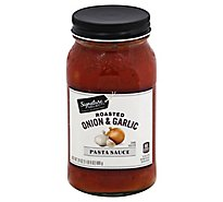 Signature SELECT Pasta Sauce Roasted Onion & Garlic Jar - 24 Oz