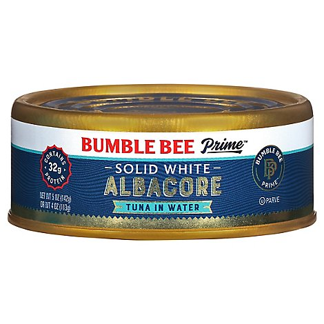 Bumble Bee Prime Fillet Tuna Albacore Solid White in Water - 5 Oz