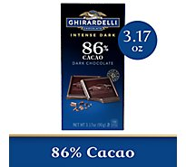 Ghirardelli Chocolate Intense Dark Midnight Reverie 86% Cacao - 3.17 Oz