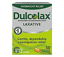 Dulcolax Laxative 5mg Comfort Coated Tablets - 50 Count