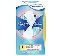 Always Infinity Pads Flex Foam Regular Flow - 36 Count