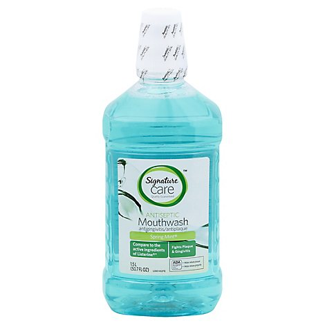 Signature Care Mouthwash Antiseptic Spring Mint - 50.7 Fl. Oz.