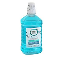 Signature Care Mouthwash Antiseptic Blue Mint - 50.7 Fl. Oz.