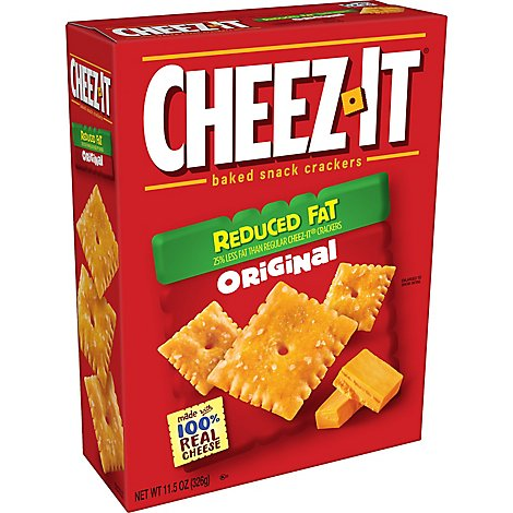 Cheez-It Baked Snack Cheese Crackers Reduced Fat Original - 11.5 Oz
